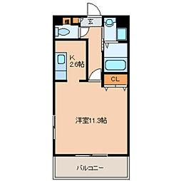 東京都福生市武蔵野台1の賃貸マンションの間取り