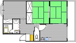 第1東ビル[403号室]の間取り