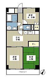 志村ビル[303号室]の間取り