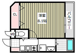 大阪府大阪市平野区加美正覚寺4丁目の賃貸アパートの間取り