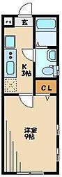 ピアコートTM保谷壱番館 3階1Kの間取り