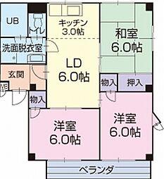 愛知県知立市西2丁目の賃貸アパートの間取り