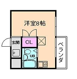 グランディール姫島[3階]の間取り