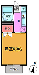 千葉県市川市南行徳2の賃貸アパートの間取り