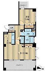 アーデン駒沢パークフロント[2階]の間取り