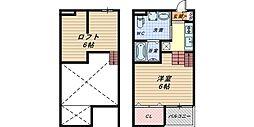 ラ・チャンスIII[2階]の間取り