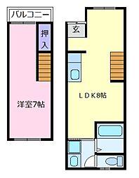 [一戸建] 大阪府大阪市住吉区清水丘3丁目 の賃貸【/】の間取り
