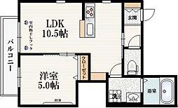 JR埼京線 十条駅 徒歩3分の賃貸マンション 3階1LDKの間取り