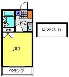 グレースハイツI[1階]の間取り