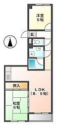 愛知県豊田市丸山町8丁目の賃貸マンションの間取り
