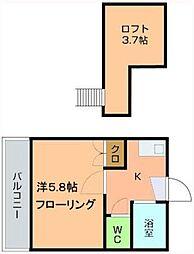 井村コーポ[202号室]の間取り