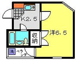 神奈川県横浜市港北区新吉田東5丁目の賃貸アパートの間取り