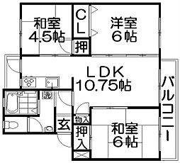 三井団地A棟94号棟[2階]の間取り