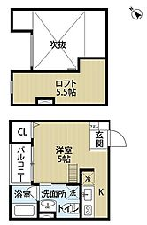南海線 堺駅 徒歩10分の賃貸アパート 1階1Kの間取り