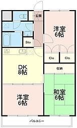 ひかりマンション[1階]の間取り