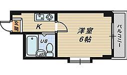 COCO堺東II[3階]の間取り