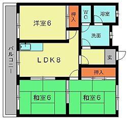 コートビレッジ赤坂[302号室]の間取り