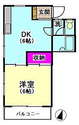 東京都大田区西嶺町の賃貸アパートの間取り