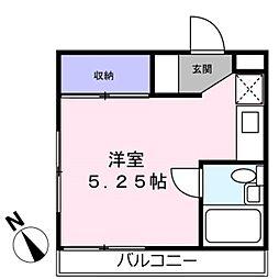 神奈川県横浜市青葉区あざみ野4丁目の賃貸マンションの間取り