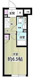 Notice 目黒本町 4階1Kの間取り