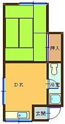 村田コーポ[201号室]の間取り