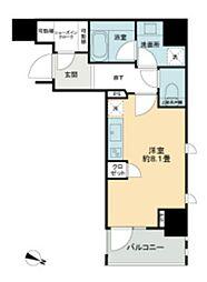 東京メトロ日比谷線 秋葉原駅 徒歩6分の賃貸マンション 6階ワンルームの間取り