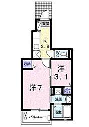 ラ・ソレイユ東松山II[1階]の間取り