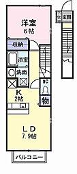 フォンテーヌ[2階]の間取り
