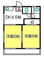 稲田荘[101号室]の間取り