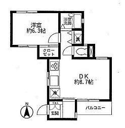 コスモ宮崎台ロフトアーバン[3階]の間取り