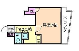 セレージャ桜塚[2階]の間取り