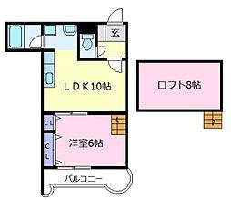 309プラザ[7階]の間取り