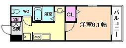 大阪府大阪市西淀川区出来島2丁目の賃貸アパートの間取り