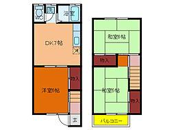 千葉県柏市中央町の賃貸アパートの間取り