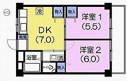 第3泰友マンション[2階]の間取り
