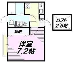 東京都八王子市千人町3丁目の賃貸アパートの間取り