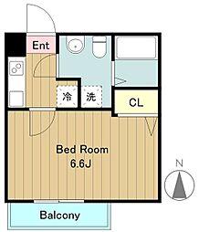 小田急多摩線 小田急永山駅 徒歩9分の賃貸アパート 1階1Kの間取り