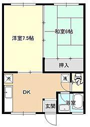 ハイツ来海[2階]の間取り