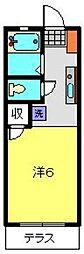 ルミエールK[1階]の間取り