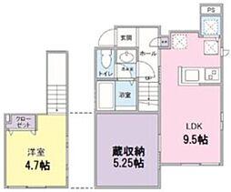 東急東横線 都立大学駅 徒歩10分の賃貸アパート 1階1LDKの間取り