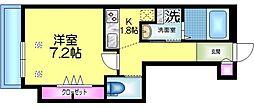 ヘーベルメゾン墨田2丁目 1階1Kの間取り