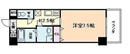 アスヴェル梅田WEST[4階]の間取り