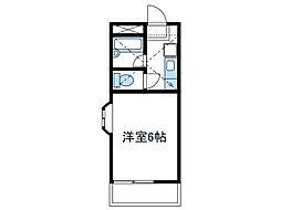 神奈川県座間市緑ケ丘6丁目の賃貸アパートの間取り