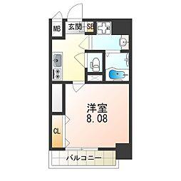 DwellingASAHI 7階1Kの間取り