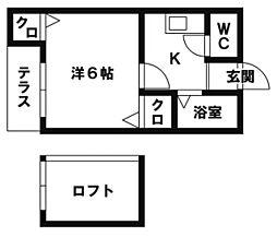 MHハウスI[103号室]の間取り