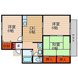 滋賀県彦根市小泉町の賃貸アパートの間取り
