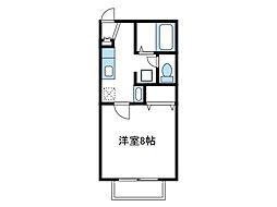 神奈川県伊勢原市伊勢原4丁目の賃貸アパートの間取り
