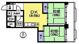 ペルリーノ武蔵関E[3階]の間取り