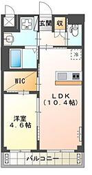 Osaka Metro御堂筋線 新金岡駅 徒歩12分の賃貸マンション 3階1LDKの間取り