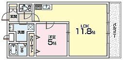 Mプラザ津田駅前十二番館 4階1LDKの間取り